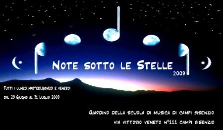 NOTE SOTTO LE STELLE (scuola di musica)