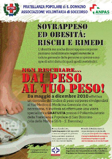 campagna contro l'obesità della Fratellanza Popolare S.Donnino