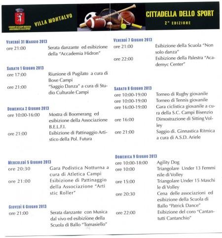 cittadella sport 2013 villa montalvo