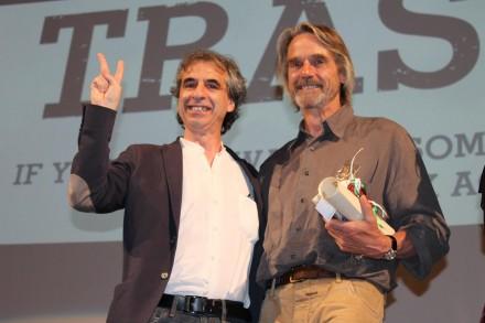 Rossano Ercolini e Jeremy Irons alla proiezione del film
