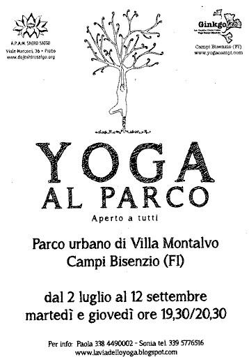 yoga nel parco 2013