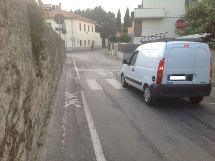 L'accesso pedonale a Via Pimentel
