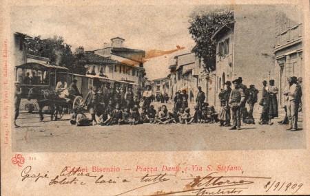 Via Santo Stefano nel 1909