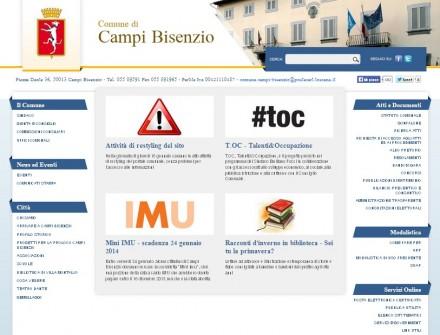 schermata sito comune campi