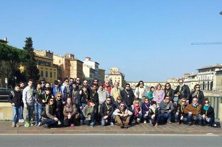 Il Gruppo U13 della Pallacanestro Campi in visita ai monumenti di Firenze
