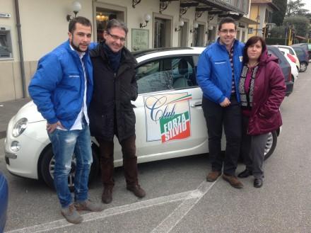 La 500 di Forza Italia a Campi Bisenzio